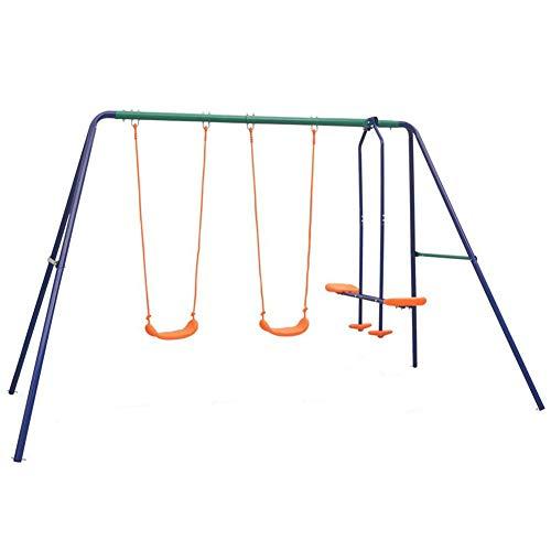 AYNEFY - Columpio de hierro para niños, columpio para niños de 3 a 12 años, soporta 145 kg, 324 x 155 x 182 cm