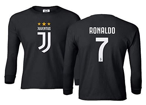 Spark Apparel Soccer Shirt #7 Cristiano Ronaldo Juve CR7 Boys Girls...
