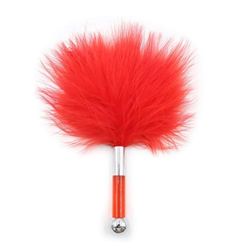 MXD SM-Spielzeug Federkitzler for Paare Peitsche Mini Bequeme weiche Massage T-Shirt (Color : Red)