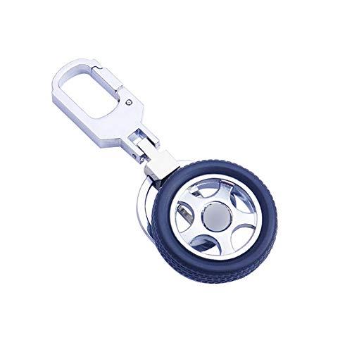 IKAAR Llavero de neumático llavero de forma de rueda de coche regalo