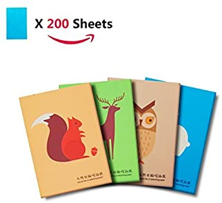 AGERIOS Blotting Sheets For Face, 200 Oil Blotting Papers, Oil Control Paper For Makeup Easy Take 4 Pack Set Fresh and Lov...