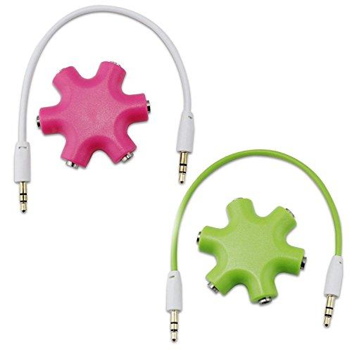 Aussel 2 juego de llaves perforadoras de 3,5 mm auriculares de audio...