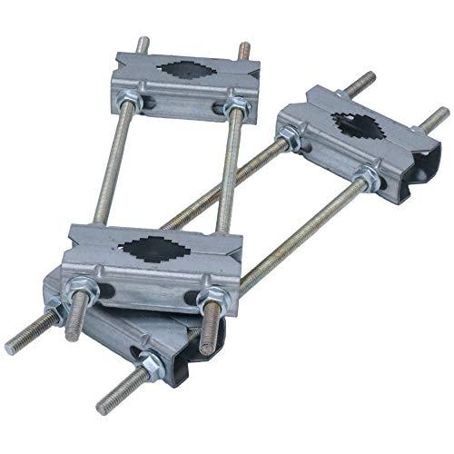Doppel-Schelle Mastschelle 30-HQ Zubehör Set - Rohr- oder Masthalterung bis 58 mm aus verzinkten Stahl für Sat-Schüssel/DVB-T2 Funkantenne/LTE-Antenne/Sonnenschirm/Sonnensegel/Wetterstation