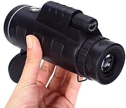FHISD Telescopio monocular, Universal 40X60 Viajes Telescopio monocular de Prisma óptico Ultra Claro de Doble Foco portátil con trípode para observar la Caza Camping Senderismo