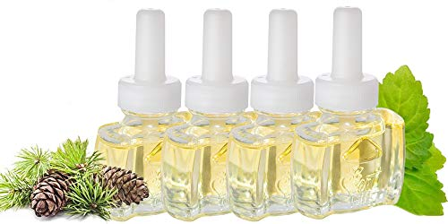 (4 Pack) Scent Fill® Fraser Fir & Fresh Balsam Plug in Refill Air Freshener works with/compatible with Air Wick®