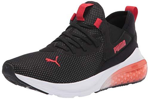 PUMA Men's Cell Vive Running Shoe, Black-High Risk Red, 10.5
