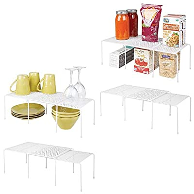 mDesign Adjustable Metal Kitchen/Pantry Shelves: Expandable - 8 Pieces from