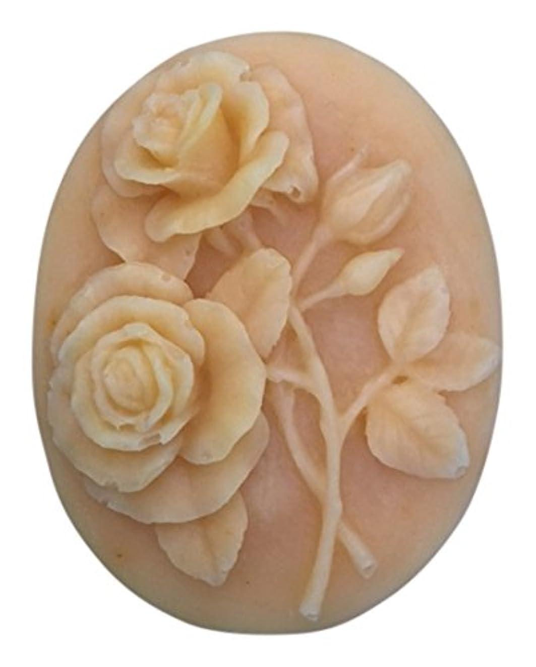 膨らみフィドル収束ボタニカルな手作り化粧石けん「茜」 幸福のバラ (B)