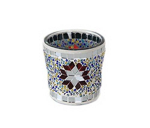 Photophore en mosaïque de cristal pour bougie chauffe-plat