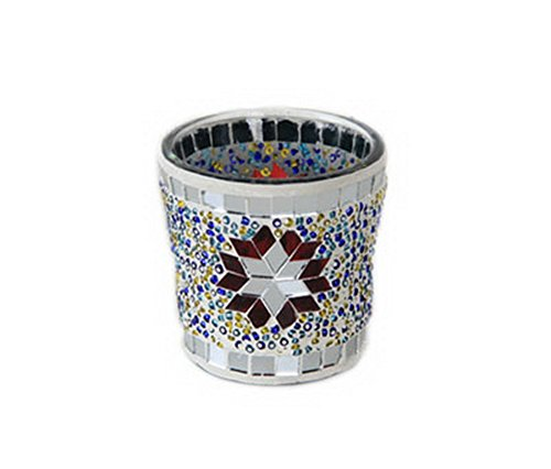 Pierre de Cristal à motif mosaïque en verre pour bougie chauffe-plat support