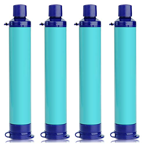 Membrane Solutions Portable Water Filter Straw Filtration Straw Purifier Survival Gear for Hiking,...