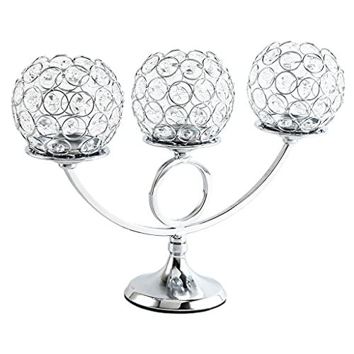 candelabro cristal de 3 brazos de la marca Non-brand