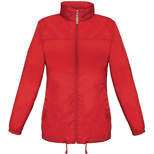 B&C Sirocco - Giacca impermeabile da donna Rosso XL