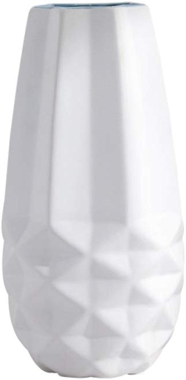 Vase décoratif cylindre HJCA Haute Qualité Vase En Céramique Petit Frais Décoratif Décoration de Fleur OrneHommests Salon Chambre ArrangeHommest de Fleurs Simple Vase Créatif Taille  Haut 28CM  Diamètre 14