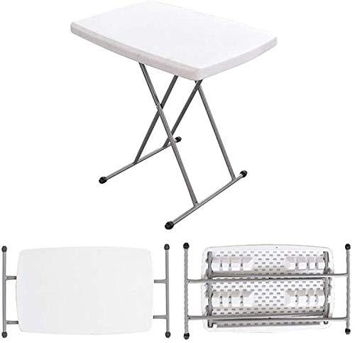 Mesa plegable portátil plegable bocadillo portátil altura ajustable mesa personal T