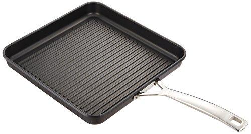 Le Creuset 967002281 - Parrilla cuadrada (antiadherente, 28 cm), color negro