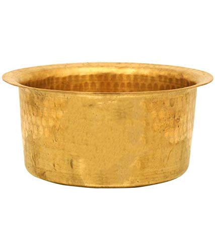 Satisfactory Nation Indian Traditional Kitchen Utensil Brass Patila Tope Cooking Topia Bhaguna Pots & Pan Capacity 1 Litre