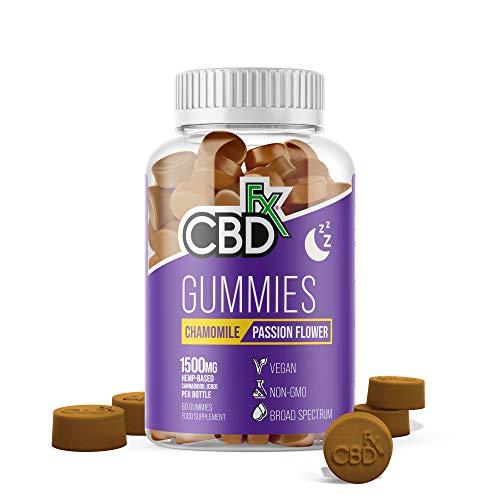 CBDfx Chamomile & Passionflower Sleep CBD Gummies (60 Gummy Bottle) - 1500mg CBD