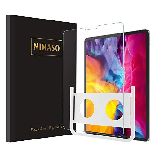 【ガイド枠付き】 Nimaso iPad Pro 11 ガラスフィルム (2020/2018)用 液晶保護フィルム