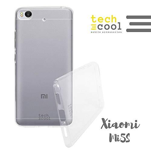 Funnytech Funda Transparente para Xiaomi Mi5S I [Gel Silicona Flexible [Ultra Slim 1,5 mm - Gran Resistencia] [Acabado Brillo con Tratamiento Anti-Huellas y Manchas]