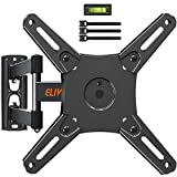 Full Motion TV Monitor Wall Mount TV Bracket Swivels Tilts Extension Rotation for Most 14-40 Inch LED LCD Flat Screen TVs & Monitors with Articulating Arms, Max VESA 200x200mm, up to 33 lbs. ELIVED