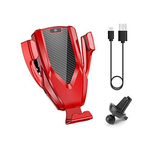 HKJZ SFLRW Cargador de Coche inalámbrico Montaje del teléfono del Coche, Soporte de teléfono de ventilación de Aire para automóvil, Soporte de teléfono Universal Cuna (Color : B)