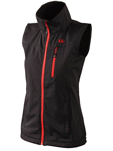 Ultrasport Damen Softshell Weste Athina, Black/Red, L