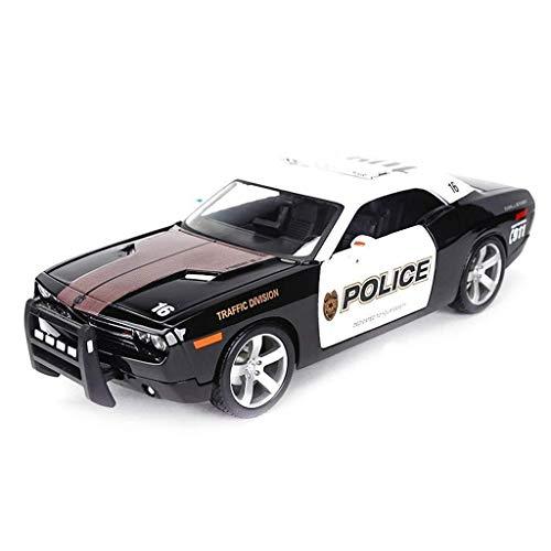 WASHULI 1:18 Escala Dodge Challenger Modelo de simulación de Coches, Altamente Detallada aleación de Metal Fundido Modelo, Modelo Exclusivo de colección, Roadster Car Model Kit, 26.3x10x7.5CM