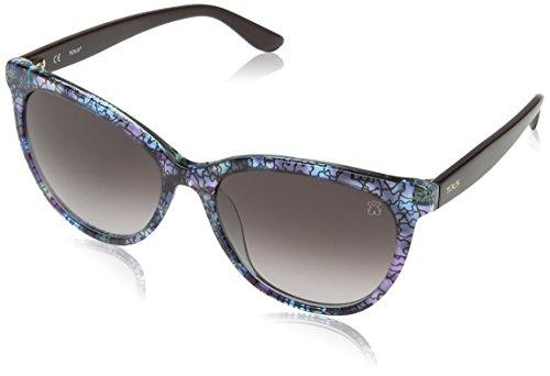 TOUS Mujer STOA03 Gafas de sol, Multicolor (Transp.Pink/Light Blue Havana)
