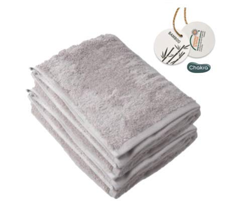 Hypoallergenic Bamboo Luxury Oversize Bath Towels, 33'x60', Set of 2, Large Fluffy Thick Bath Towel, Ultra Soft, Eco-Friendly Oversized Hotel-Spa Fluffy Bath Sheet by Chakra (Beige)
