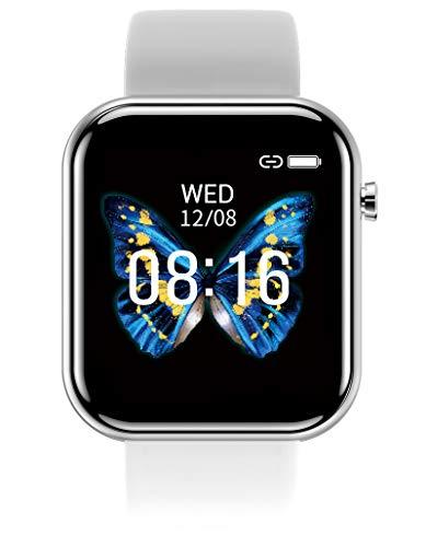 Damen Herren Smartwatch Fitness Tacker Sport Uhr Pulsmesser Schlafmonitor Kalorienzähler Blutdruck Schrittzähler Bluetooth Wasserdicht Aktivität Frauen Armbanduhr SMS Bluetooth IOS Android
