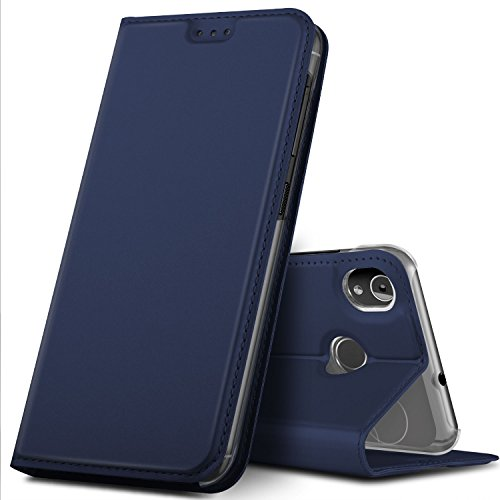 GeeMai Gigaset GS185 Hülle, Premium Gigaset GS185 Leder Hülle Flip Hülle Tasche Cover Hüllen mit Magnetverschluss [Standfunktion] Schutzhülle handyhüllen für Gigaset GS185 Smartphone, Blau