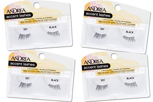 Andrea Accent False Lashes #301 (23321), 4 packs