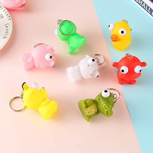 Squishy Cat Stress Reliever Mini Squishies Toy Eye Popping Squeeze Anxiety Reducer Sensory Play (5pcs - Random Style)