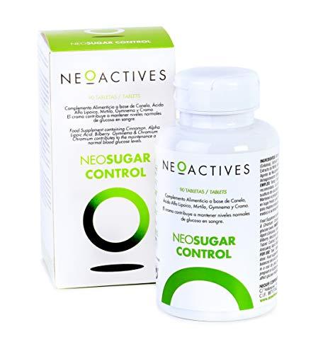 NeoSugar Control   Complemento Alimenticio en Capsulas, Ingredientes Naturales Suplemento Vegano   Ayuda a mantener niveles normales de azúcar en sangre (90 cápsulas)