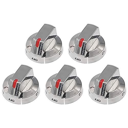 Primeswift Upgraded DG64-00473A Top Burner Control Knob Dial (5 PK) with Reinforced Power Ring Protection,Exact Replacement for AP5917439,PS9606608