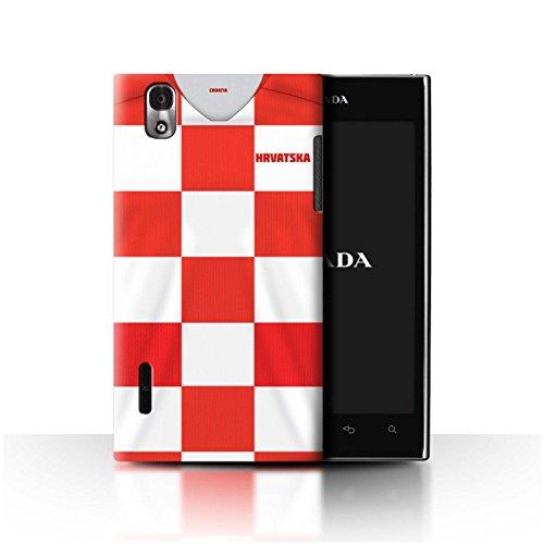 Stuff4® Phone Case/Cover/Skin/LGFL-CC/World Cup 2018 Football Shirt Collection LG Prada 3.0/K2/P940 Kroatië/Kroatisch