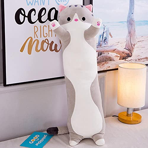 LXYN Juguete de los niños del Juguete de la Felpa de la muñeca Animal del Gato Lindo de la Almohada Larga del Gato