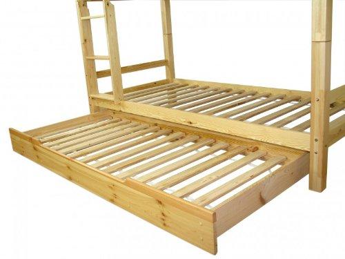 Erst-Holz® Bettkasten als Zusatzbett für unsere Etagenbetten - Kiefer Natur - 90.10-S7