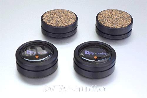 bFly-audio Pure-0 Set Absorber/Dämpfer Höhe | Belastung max. 5 kg/Set (Höhe: 17 mm, Schwarz)