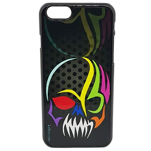 Kalféa - Cover per iPhone 6 o iPhone 6S, con teschio tribale, sfondo nero, idea regalo (iPhone 6/6S)
