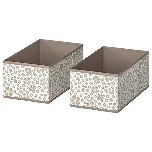 """Ikea Box, Beige, 20x37x15 cm (7 ¾x14 ½x6"""")(Pack of 2)"""
