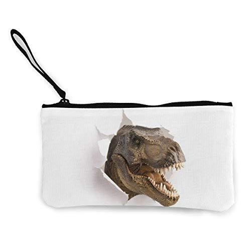 Bearget Dinosaurs passeren door papier schattig Canvas verandering munt portemonnee zak zak Rits houder portemonnee pols riem make-up potlood geval voor vrouwen meisjes gepersonaliseerd