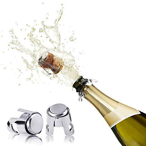 Nua - Wine Bottle Stoppers,champagne Bottle Stoppers, Wine stoppers(set Of 2) sealer Cork Stainless Steel Bottle Plug Sealer For Sparkling Wine
