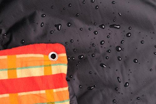 AMAZONAS AZ-5050100 Molly Picknickdecke mit beschichteter Unterseite und Thermofüllung 175x135 cm orangekariert