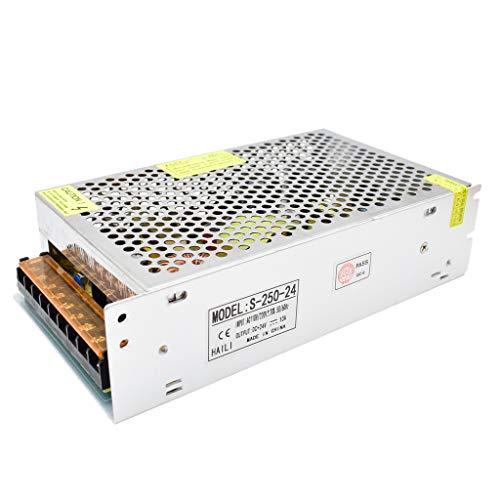 DC 24V Fuente de Alimentación Conmutada AC 110V / 220V a 24V 10A 240W Convertidor de Conmutación para Tiras de LED, Industrial