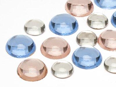 OPTIMA Pierres de gemme de circularie 11-15mm (Light Mix, Deuxiéme Qualité), 30 Pièces