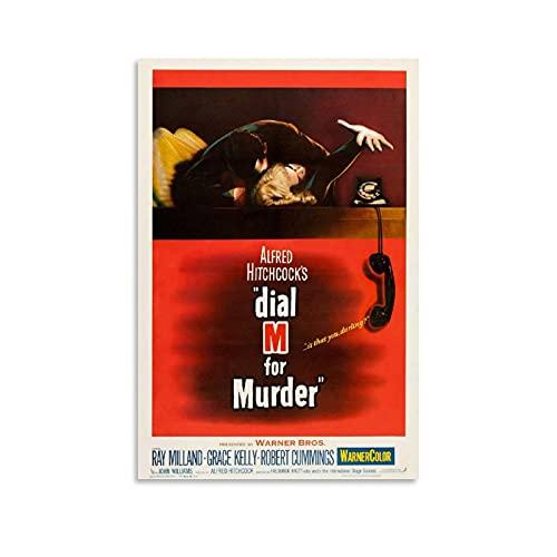 Cartel retro de crimen americano con película de suspenso de misterio para asesinato, póster de pintura decorativa en lienzo para pared, para sala de estar, dormitorio, 60 x 90 cm