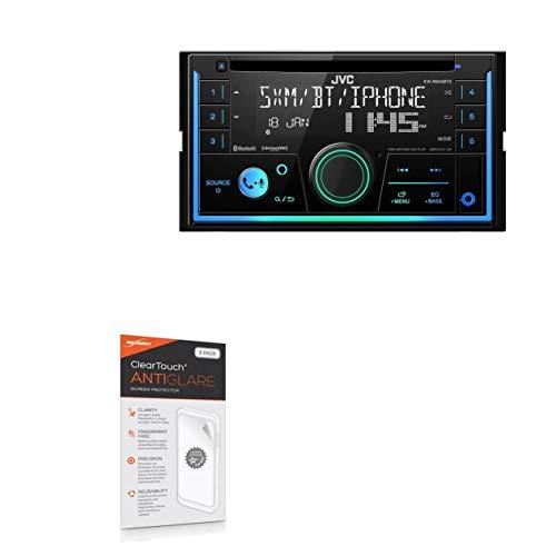 JVC KW-R940BTS Screen Protector, BoxWave [ClearTouch Anti-Glare (2-Pack)] Anti-Fingerprint Matte Film Skin for JVC KW-R940BTS