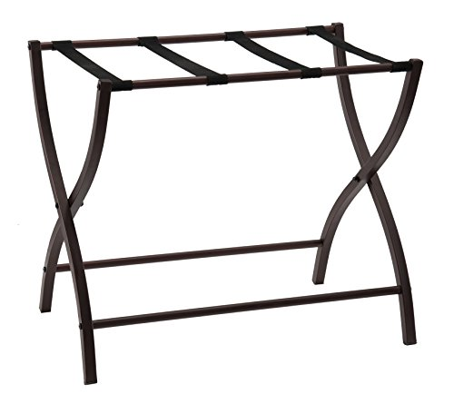 Read About Kings Brand Furniture Metal Folding Luggage Rack, Bronze